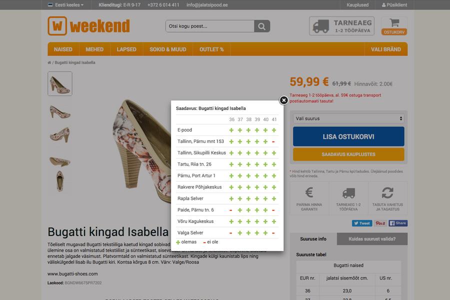 Jalatsipood - Product Page